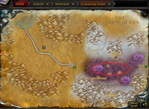 Screenshot for 78-80 Northrend Crystalsong Forest (Horde/Alliance)