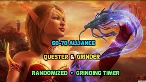 [PAID] 60-70 (1-60 Available) AFK Alliance (RANDOMIZED) Quester + some grinding  | 275+ Quests | Flight Paths | Grinding Timer (New!) | 1-13 Draenei Demo