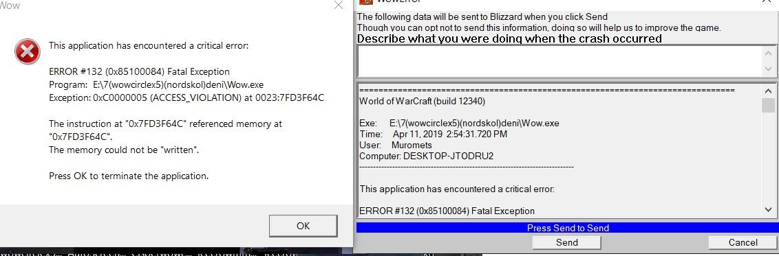 Critical error after 1-2 next updates - General discussion